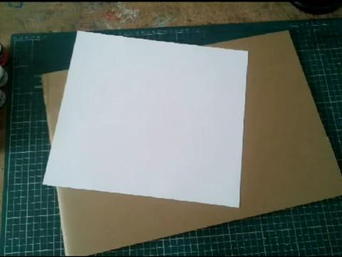Mundo en línea maqueta de papel y cartón