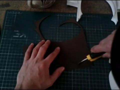 El mundo en línea diseño de corte de cartulina negra para maqueta