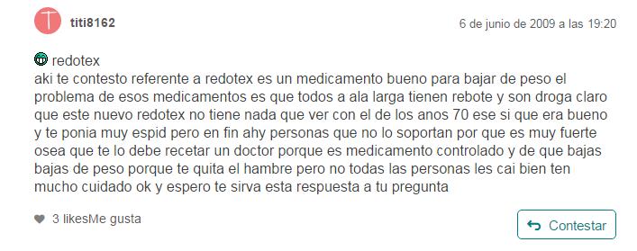 Que son las pastillas redotex