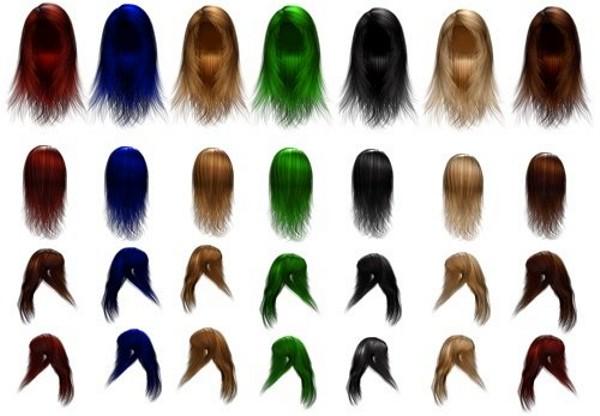 Tipos de pelucas para fotos